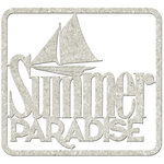FabScraps - Beach Affair Collection - Die Cut Words - Summer Paradise