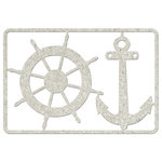 FabScraps - Beach Affair Collection - Die Cut Embellishments - Wheel and Anchor