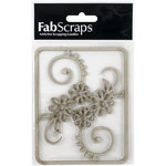 FabScraps - Tranquility Collection - Die Cut Embellishments - Flower Filigree