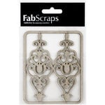 FabScraps - Tranquility Collection - Die Cut Embellishments - Filigree