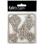 FabScraps - Tranquility Collection - Die Cut Embellishments - Ornamental Filigree