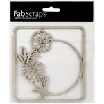 FabScraps - Tranquility Collection - Die Cut Embellishments - Flower Circle