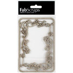 FabScraps - Tranquility Collection - Die Cut Embellishments - Filigree Frame
