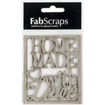FabScraps - Country Kitchen Collection - Die Cut Words - Homemade with Love