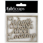FabScraps - Country Kitchen Collection - Die Cut Words - What's Cooking Good Looking