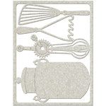 FabScraps - Country Kitchen Collection - Die Cut Embellishments - Milk Jug, 2 Whisks, Spatula