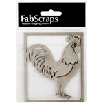 FabScraps - Country Kitchen Collection - Die Cut Embellishments - Rooster