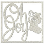 FabScraps - Christmas Memories Collection - Die Cut Words - Oh Joy