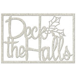 FabScraps - Christmas Memories Collection - Die Cut Words - Deck the Halls