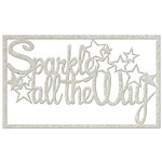 FabScraps - Christmas Memories Collection - Die Cut Words - Sparkle all the Way