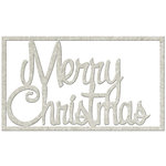 FabScraps - Christmas Memories Collection - Die Cut Words - Merry Christmas