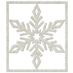 FabScraps - Christmas Memories Collection - Die Cut Embellishments - Big Snowflake