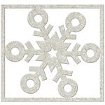FabScraps - Christmas Memories Collection - Die Cut Embellishments - Single Snowflake