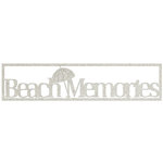 FabScraps - Beach Bliss Collection - Die Cut Words - Beach Memories