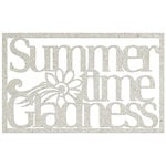 FabScraps - Beach Bliss Collection - Die Cut Words - Summertime Gladness