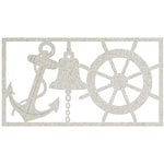 FabScraps - Beach Bliss Collection - Die Cut Embellishments - Anchor Bell and Ship Wheel