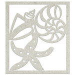 FabScraps - Beach Bliss Collection - Die Cut Embellishments - Shell and Starfish
