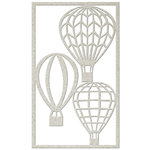 FabScraps - Kaleidoscope Collection - Die Cut Embellishments - Hot Air Balloons