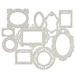 FabScraps - Vintage Elegance Collection - - Die Cut Chipboard - Multi Frames