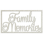 FabScraps - Vintage Elegance Collection - Die Cut Words - Family Memories