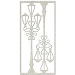 FabScraps - Vintage Elegance Collection - Die Cut Embellishments - Vintage Lamppost