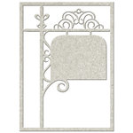 FabScraps - Vintage Elegance Collection - Die Cut Embellishments - Filigree Signpost