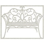 FabScraps - Vintage Elegance Collection - Die Cut Embellishments - Filigree Bench