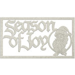FabScraps - Christmas Snow Collection - Die Cut Words - Season of Joy