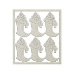 FabScraps - Christmas Snow Collection - Die Cut Chipboard - Snow Stocking
