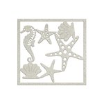 FabScraps - Summer Loving Collection - Die Cut Chipboard - Seahorse and Starfish