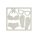 FabScraps - Summer Loving Collection - Die Cut Chipboard - Beachwear