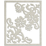 FabScraps - My Fair Lady Collection - Die Cut Chipboard - Corner Filigree and Little Blooms
