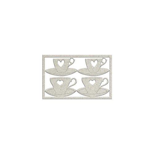 FabScraps - For The Love Of Tea Collection - Die Cut Chipboard - Teacup and Saucers
