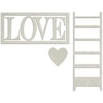 FabScraps - Lavender Breeze Collection - Die Cut Words - Love