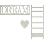 FabScraps - Lavender Breeze Collection - Die Cut Words - Dream