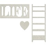 FabScraps - Lavender Breeze Collection - Die Cut Words - Life