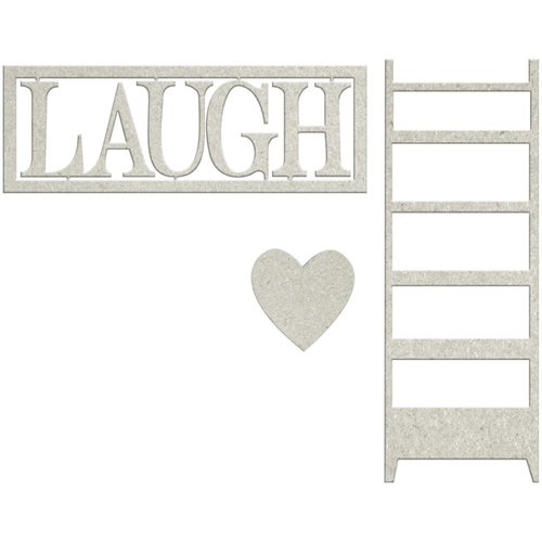 FabScraps - Lavender Breeze Collection - Die Cut Words - Laugh