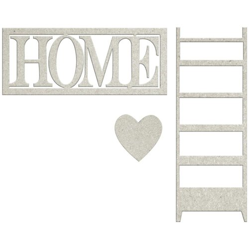 FabScraps - Lavender Breeze Collection - Die Cut Words - Home