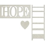 FabScraps - Lavender Breeze Collection - Die Cut Words - Hope