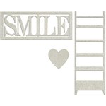 FabScraps - Lavender Breeze Collection - Die Cut Words - Smile