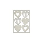 FabScraps - Lavender Breeze Collection - Die Cut Chipboard - Hearts