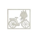 FabScraps - Lavender Breeze Collection - Die Cut Chipboard - Bicycle