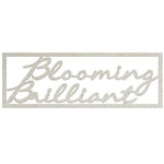 FabScraps - Charms of Spring Collection - Die Cut Words - Blooming Brilliant