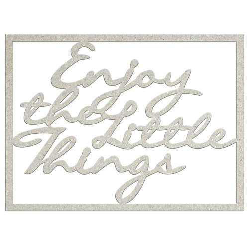 FabScraps - Charms of Spring Collection - Die Cut Words - Enjoy the Little Things