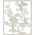 FabScraps - Charms of Spring Collection - Die Cut Chipboard - Flower