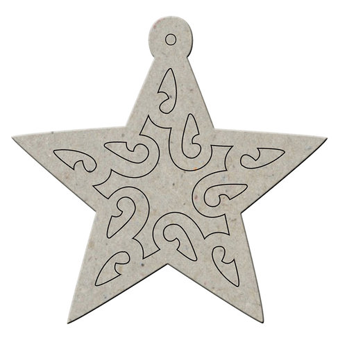 FabScraps - Joy To The World Collection - Christmas - Die Cut Chipboard Album - Star