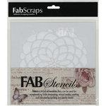 FabScraps - 8 x 8 Plastic Stencil - Desert Rose