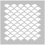 FabScraps - 8 x 8 Plastic Stencil - Scallops