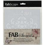 FabScraps - 8 x 8 Plastic Stencil - Filigree