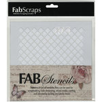 FabScraps - 8 x 8 Plastic Stencil - Diamond 2